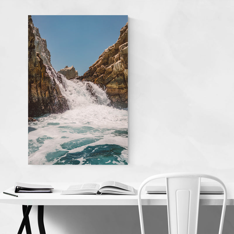 Waterfall Beach Rocks Cabo Art Print