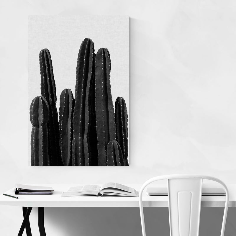 Cactus Desert Minimal Photo Canvas Art Print