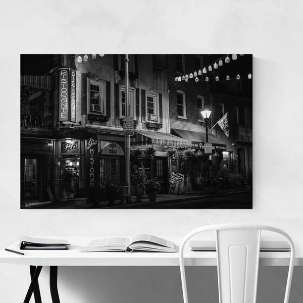 Black & White Baltimore Italy Art Print
