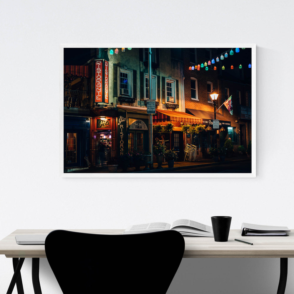 Little Italy Baltimore Maryland Framed Art Print