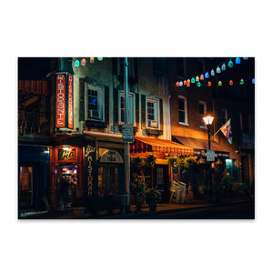 Little Italy Baltimore Maryland Metal Art Print