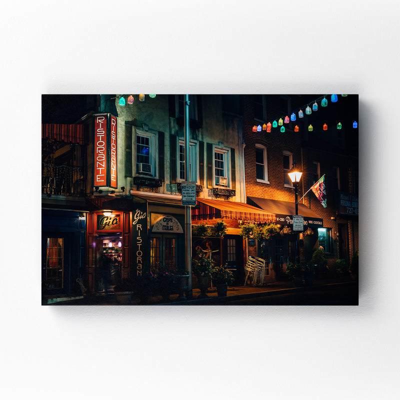 Little Italy Baltimore Maryland Mounted Art Print