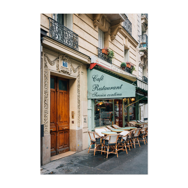 Cafe Montmartre Paris France Art Print