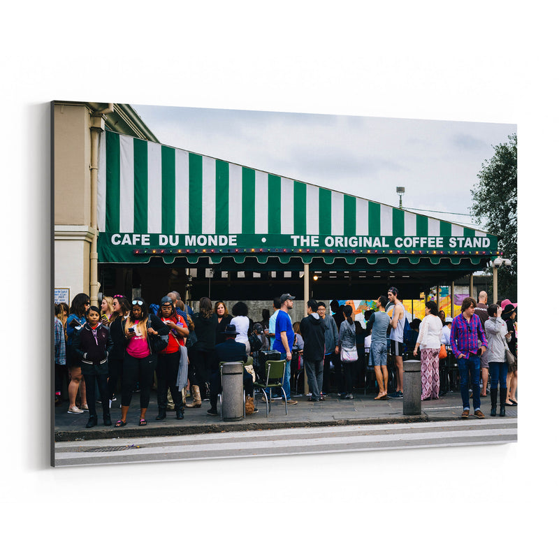 French Cafe in New Orleans Canvas Art Print