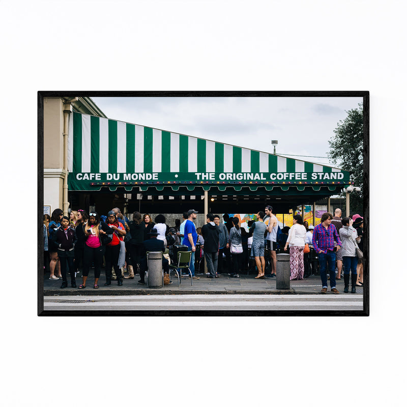 French Cafe in New Orleans Framed Art Print