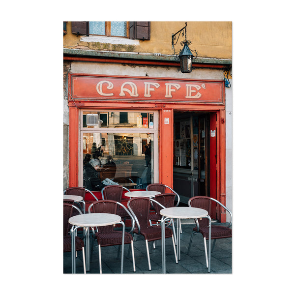 Venice Italy Cafe Coffee Shop Art Print
