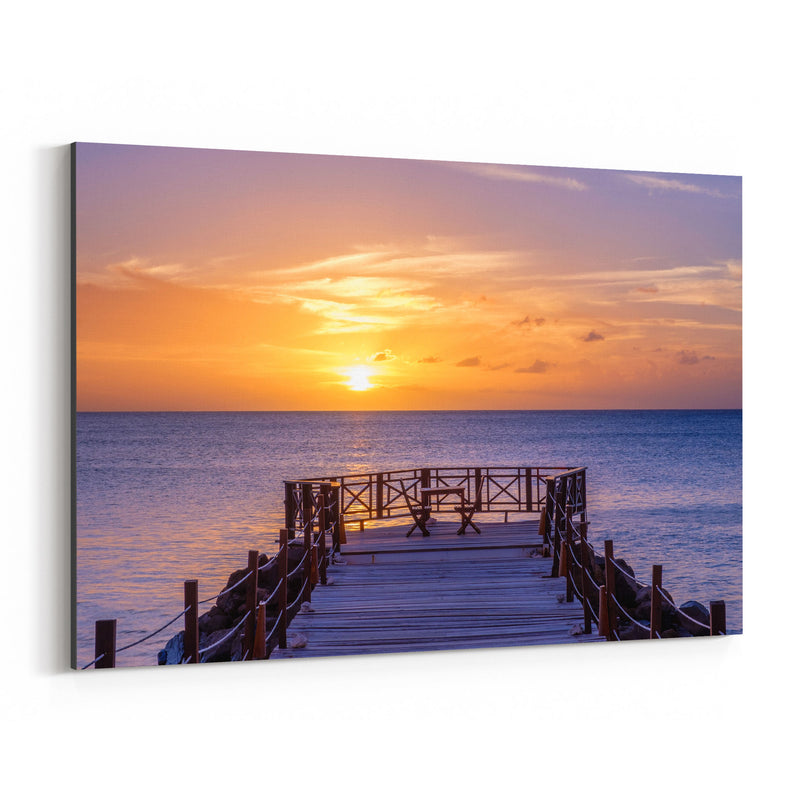 Saint Lucia Beach Coastal Nature Canvas Art Print