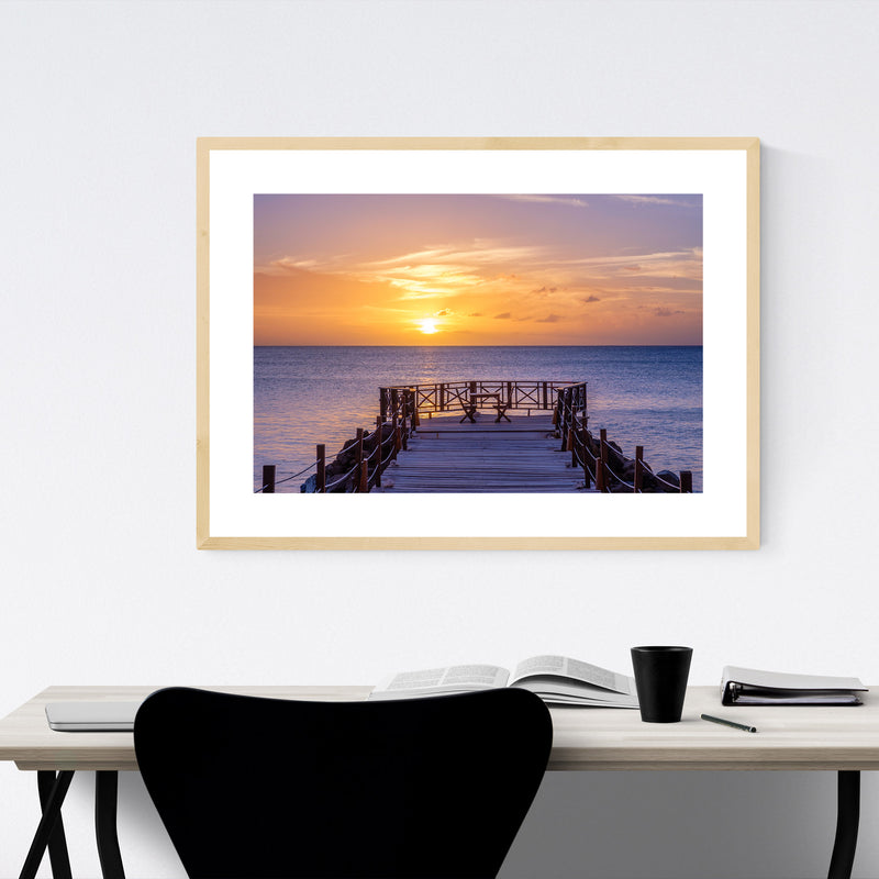 Saint Lucia Beach Coastal Nature Framed Art Print