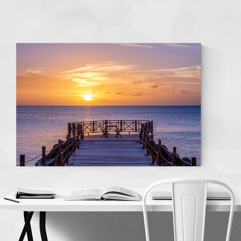 Saint Lucia Beach Coastal Nature Metal Art Print