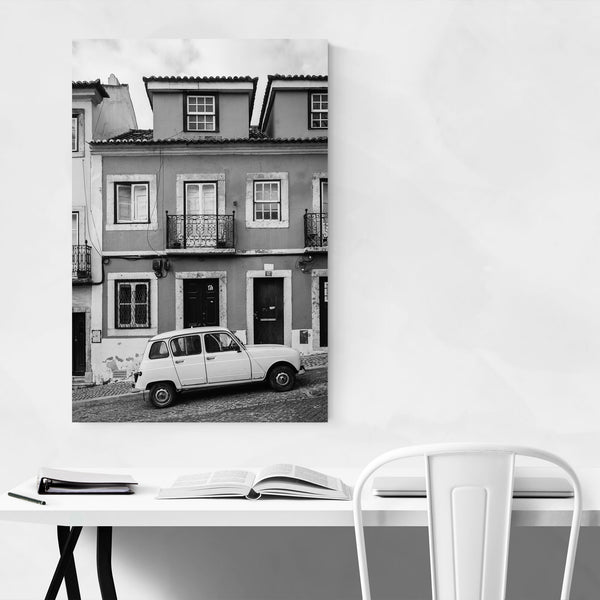 Black & White Lisbon Portugal Art Print