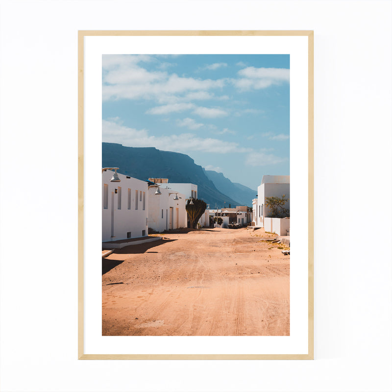 Lanzarote Canary Islands Houses Framed Art Print