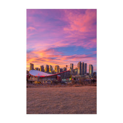 Calgary Alberta City Skyline Art Print
