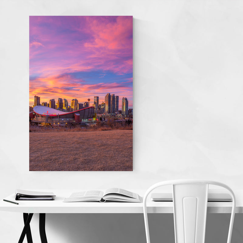 Calgary Alberta City Skyline Canvas Art Print