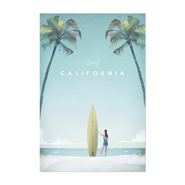 Minimal Travel Poster California Art Print