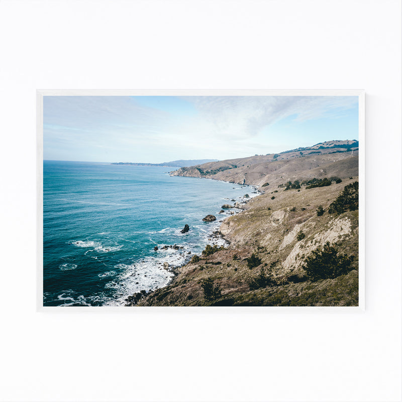 Pacific Coast Highway California Framed Art Print