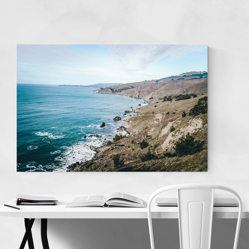 Pacific Coast Highway California Metal Art Print
