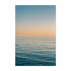 Coastal Beach Ocean Sunset Art Print