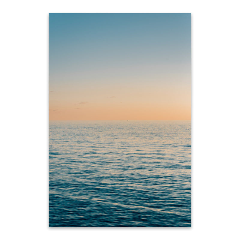 Coastal Beach Ocean Sunset Metal Art Print
