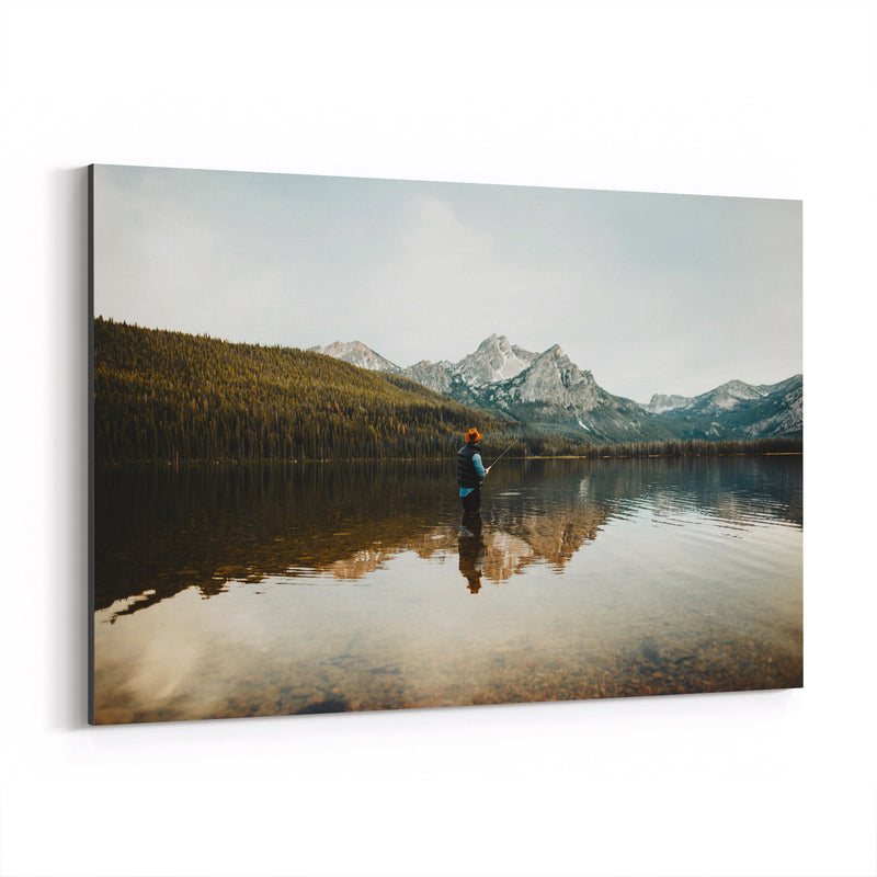 Sawtooth Mountains Idaho Lake Canvas Art Print