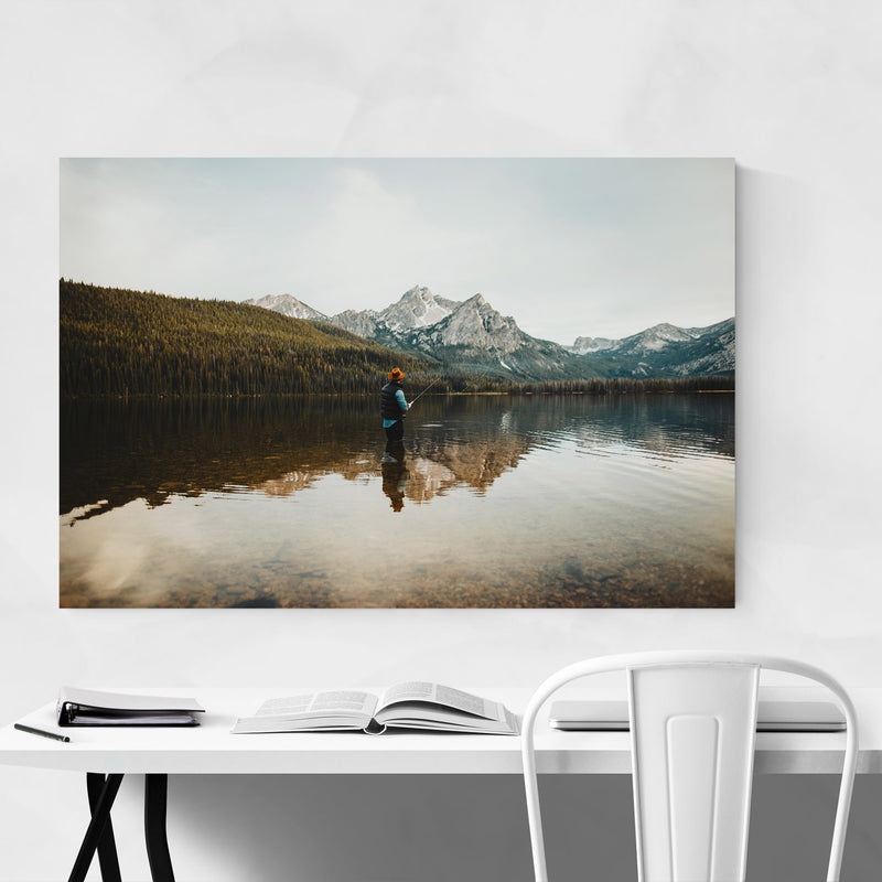 Sawtooth Mountains Idaho Lake Metal Art Print