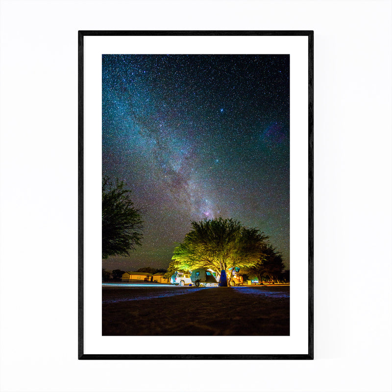 Kgalagadi Park South Africa Camp Framed Art Print