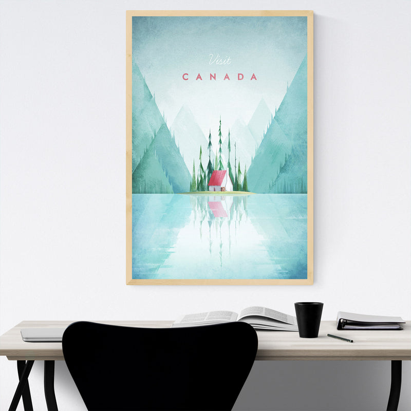 Minimal Travel Poster Canada Framed Art Print