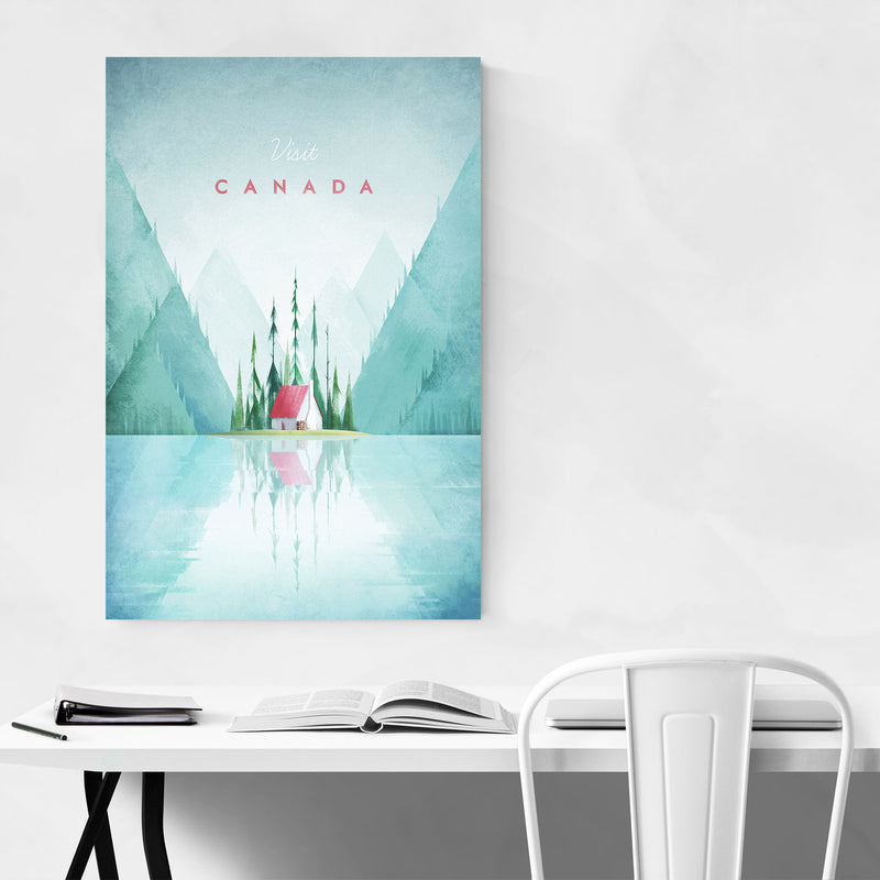 Minimal Travel Poster Canada Metal Art Print