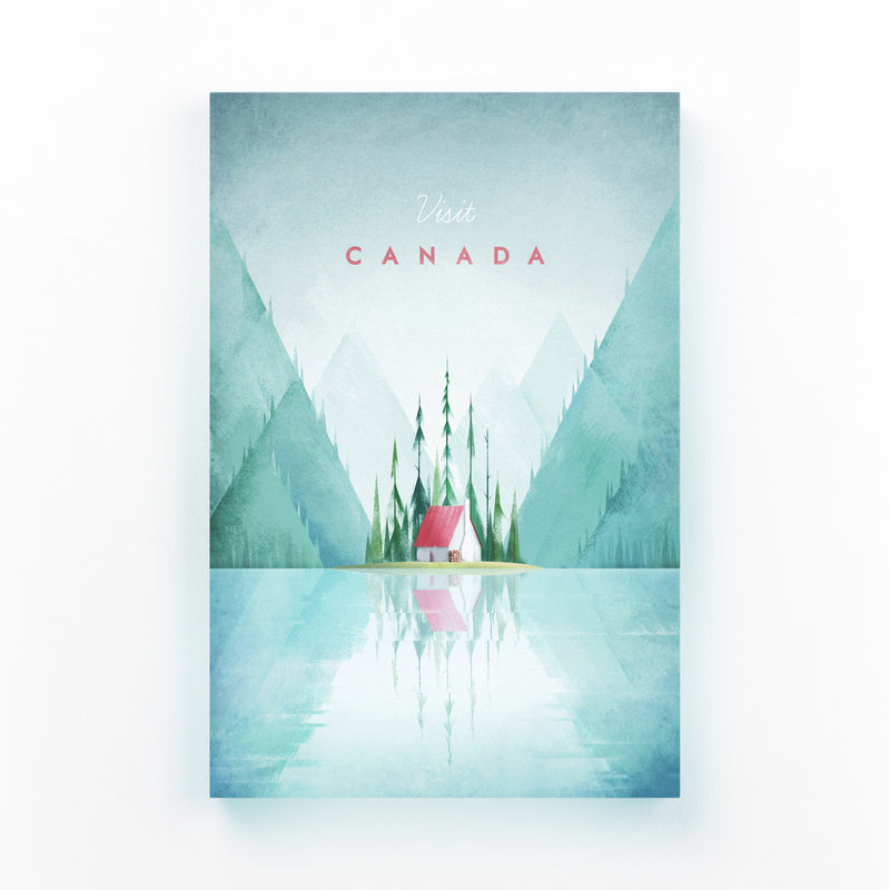 Minimal Travel Poster Canada Canvas Art Print