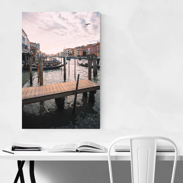 Venice Italy Grand Canal Sunset Art Print
