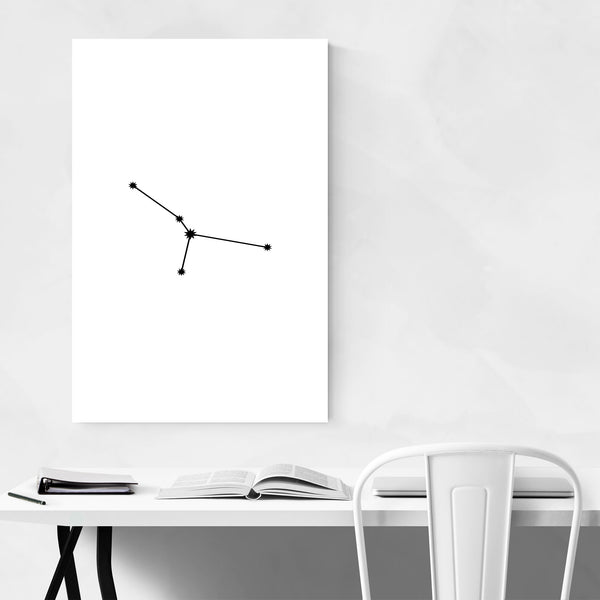 Minimal Cancer Astrology Zodiac Art Print