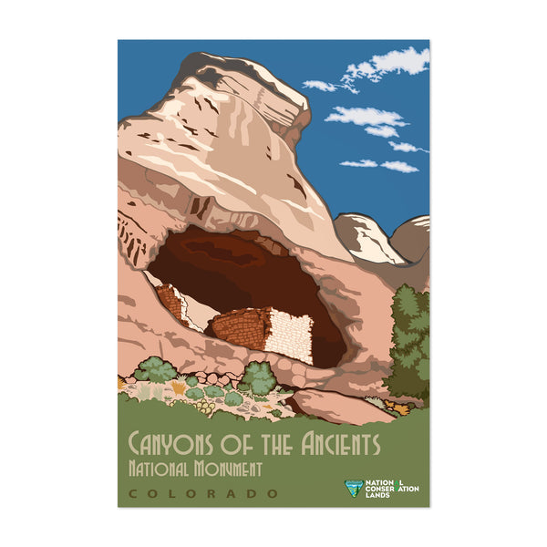Canyons Ancients Vintage Travel Art Print