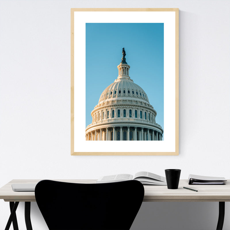 Washington DC US Capitol Photo Framed Art Print