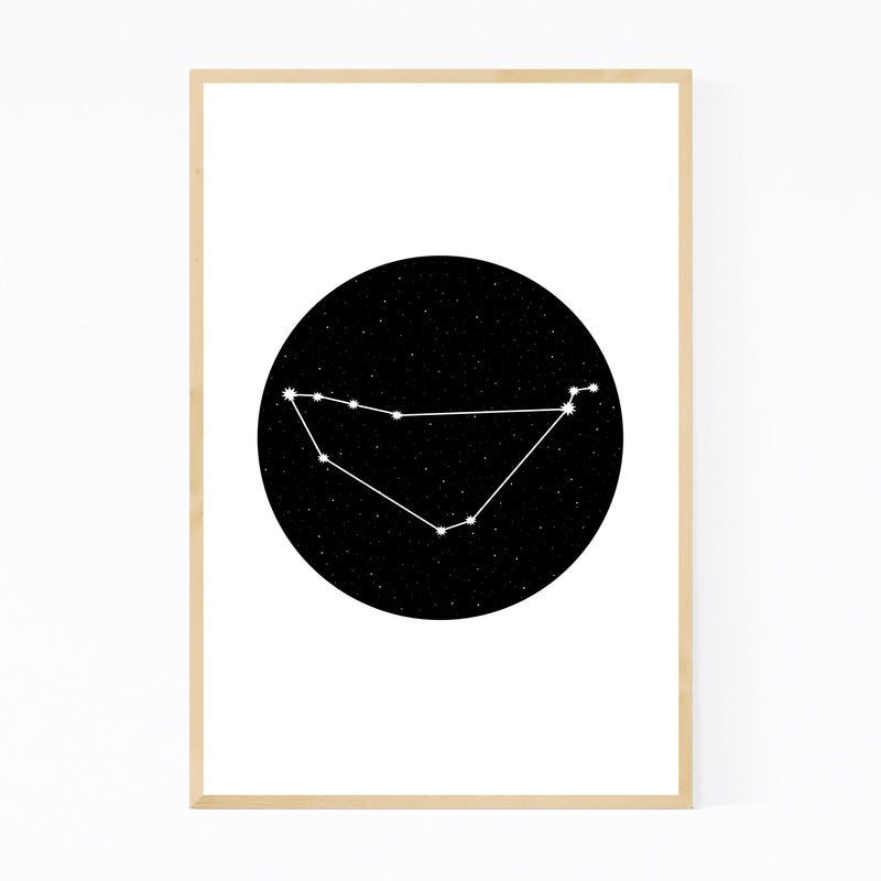 Night Sky Capricorn Zodiac Framed Art Print