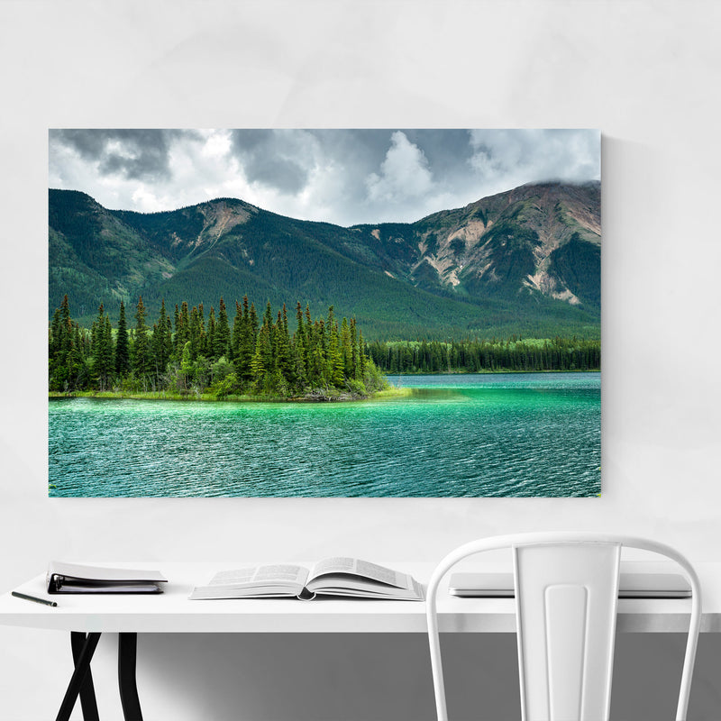 Boya Lake British Columbia  Canvas Art Print