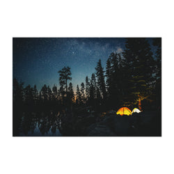 Camping Lake California Forest Art Print