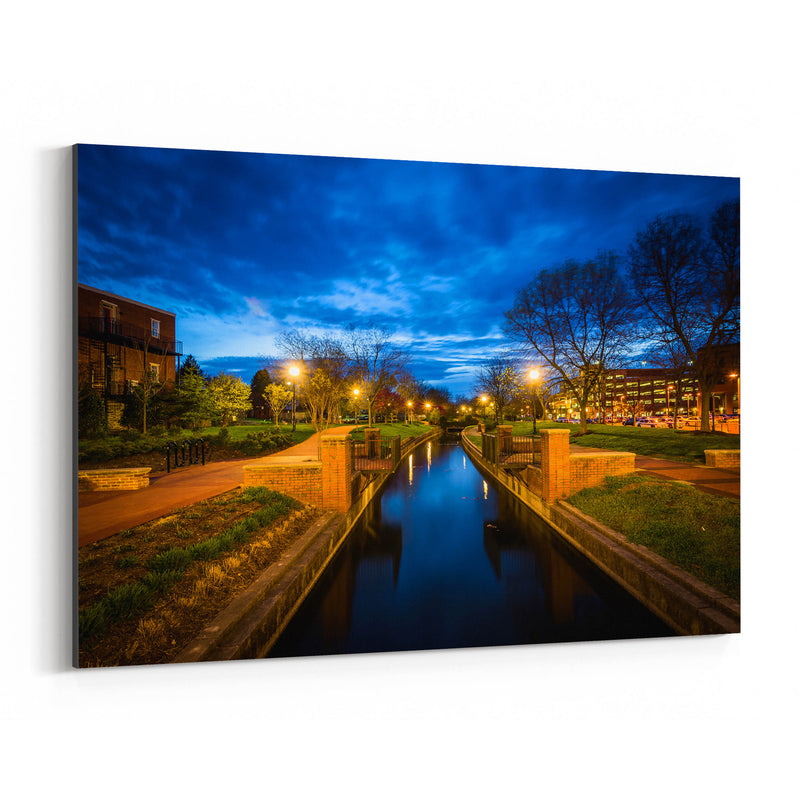 Downtown Frederick Maryland Canvas Art Print