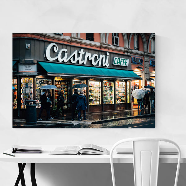 Rome Italy Coffee Shop Sign Art Print