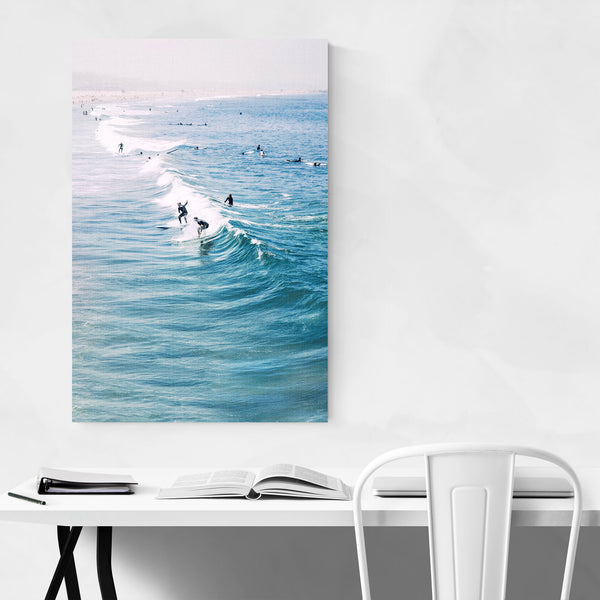 Venice Beach Surfing Wave Ocean Art Print