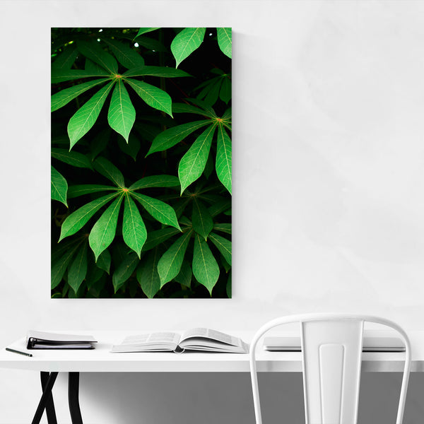 Green Spring Leaves Lush Art Print