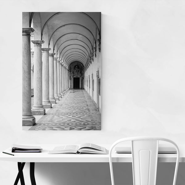 Black & White Naples Italy Arch Art Print