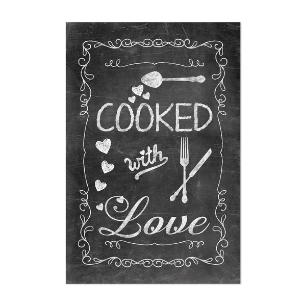 Chalkboard Kitchen Cooking Love Art Print