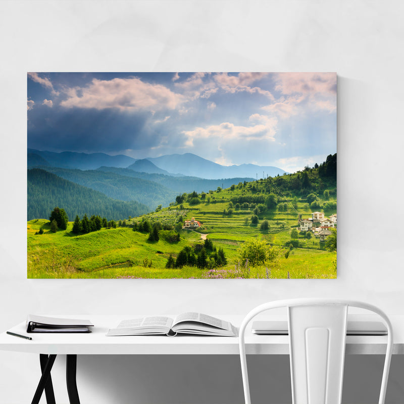 Bulgaria Mountains Landscape Metal Art Print