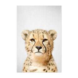 African Cheetah Peekaboo Animal Art Print