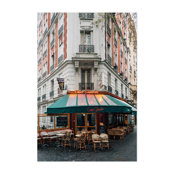 Restaurant Montmartre Paris Art Print