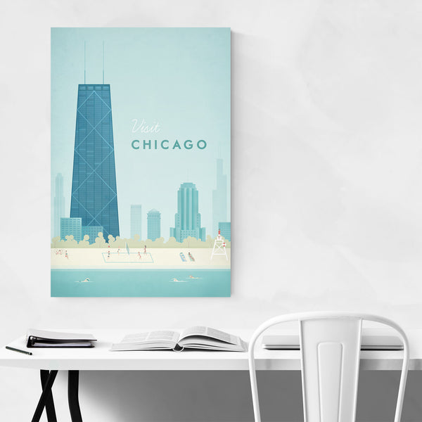 Minimal Travel Poster Chicago Art Print