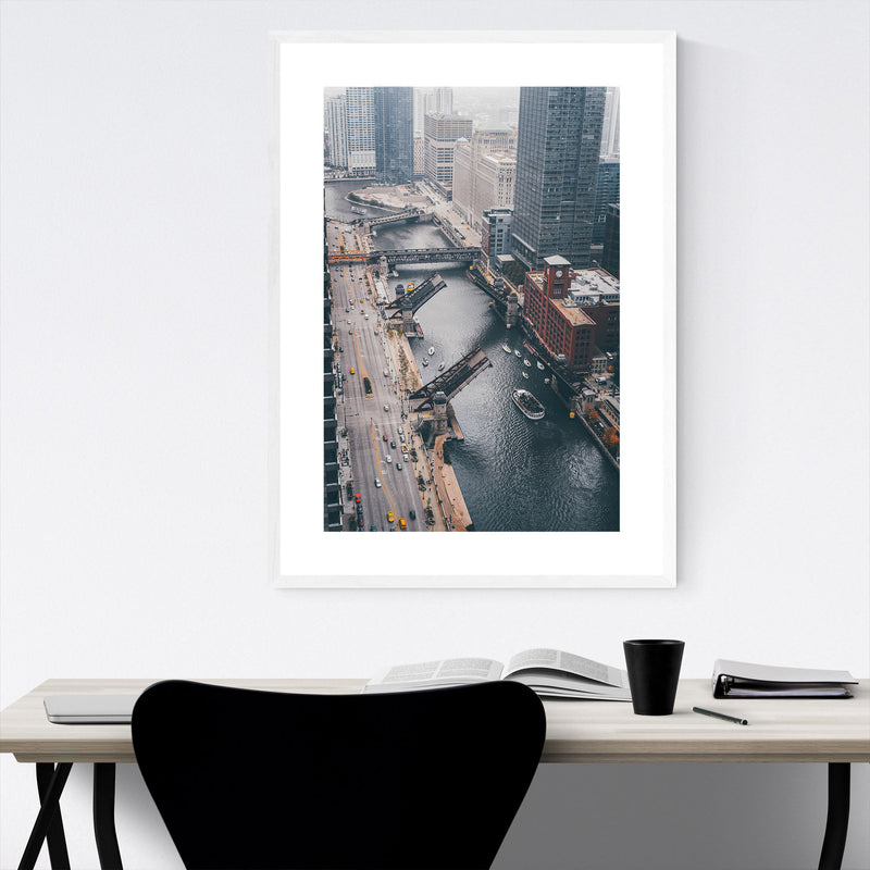 Chicago Illinois Photography Framed Art Print