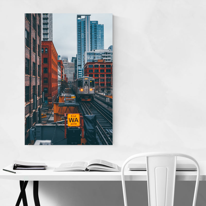 Chicago Illinois Photography Metal Art Print