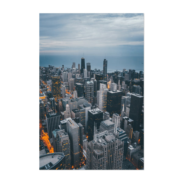 Chicago Skyline City Illinois Art Print