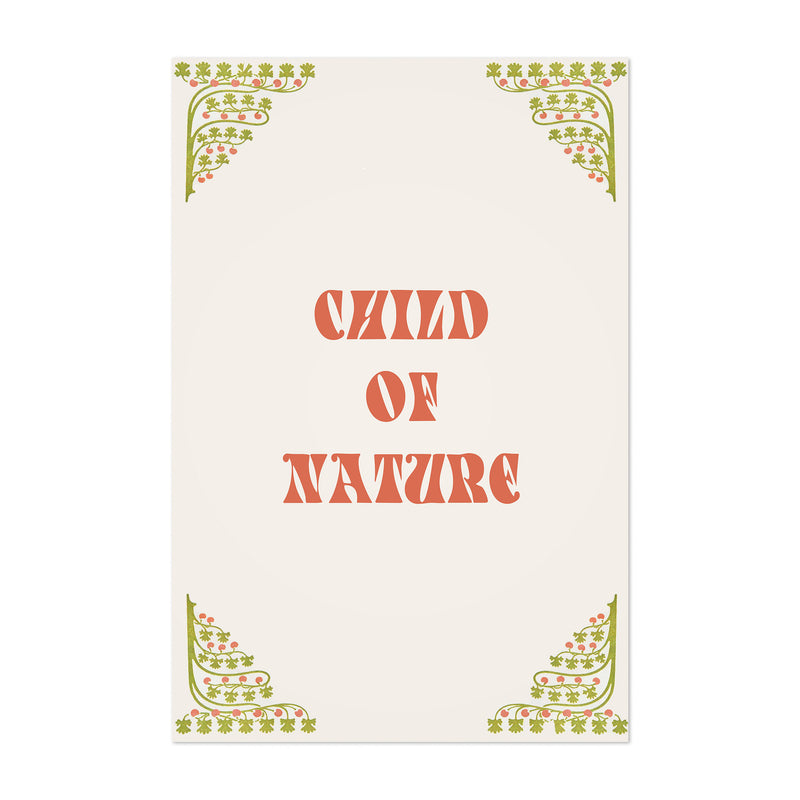 Nature Inspring Typography Art Print