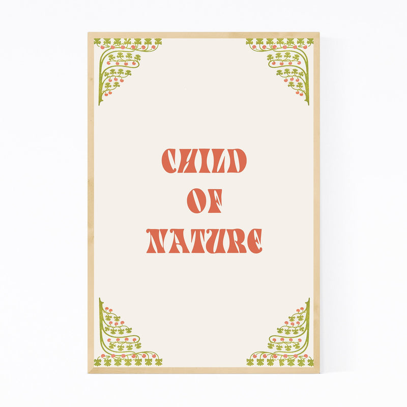 Nature Inspring Typography Framed Art Print